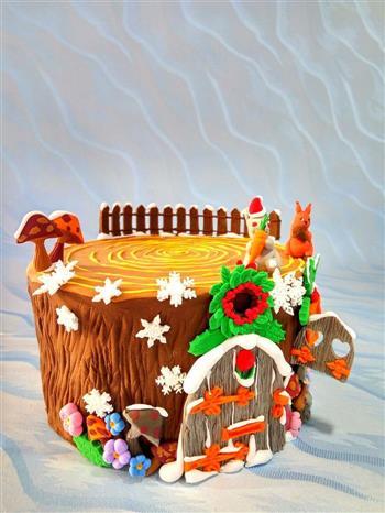 圣诞节树屋翻糖无需申请自动送的做法图解11