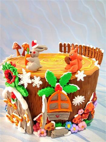 圣诞节树屋翻糖无需申请自动送的做法图解12