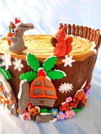 圣诞节树屋翻糖无需申请自动送的做法图解13