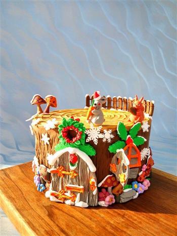 圣诞节树屋翻糖无需申请自动送的做法图解8
