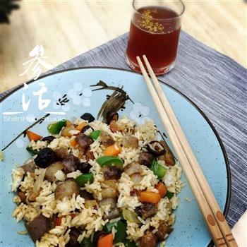 海参炒饭的做法图解5