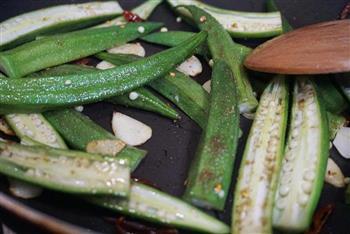 古朴烹饪法烤秋葵的做法图解4