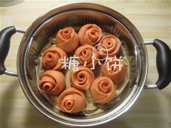 酒酿玫瑰馒头的做法图解10