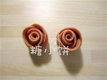 酒酿玫瑰馒头的做法图解8