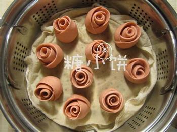 酒酿玫瑰馒头的做法图解9