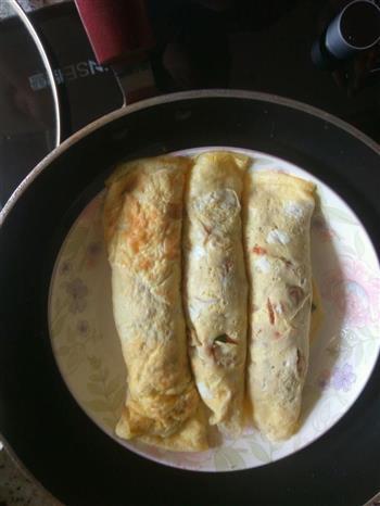 胡萝卜肉末鸡蛋卷的做法图解12
