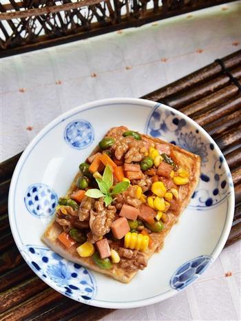 核桃五彩豆腐的做法图解13
