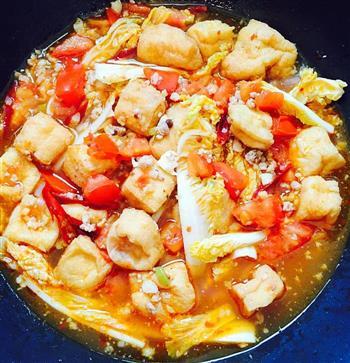西红柿焖油豆腐的做法图解10