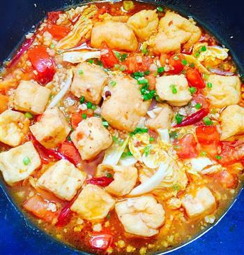 西红柿焖油豆腐的做法图解11