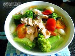 三文鱼西兰花汤