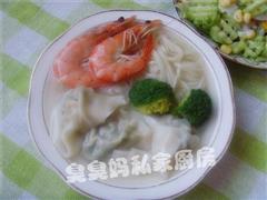 肉末鲜虾馄饨面