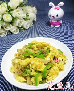 榨菜青椒炒鸡蛋