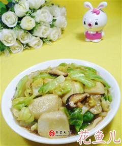 香菇圆白菜炒年糕