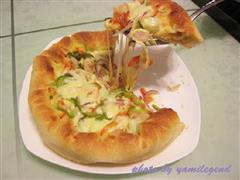 鲜虾芝心披萨
