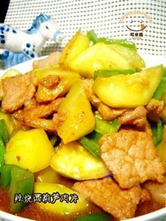 辣烧西葫芦肉片