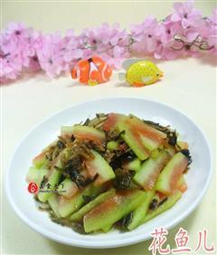梅干菜炒西瓜皮