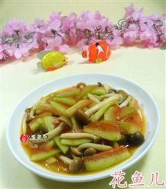 蟹味菇炒西瓜皮