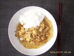 酸奶海鲜鸡蛋煎饼