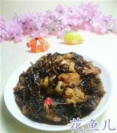 梅干菜烧鸡翅根