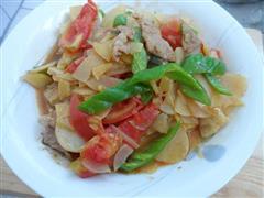 西红柿尖椒土豆片