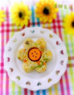 花朵蛋炒饭