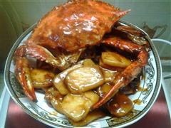 蟹子炒年糕