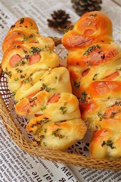 香葱火腿沙拉酱面包