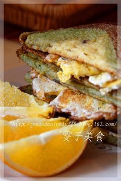 土司煎蛋三明治
