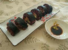 紫米紫菜包饭