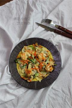 蔬菜芝士蛋煎饼