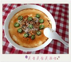 海苔肉饼蒸蛋会秋葵