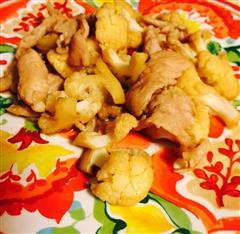 猪肉片炒菜花