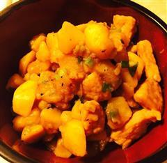 猪肉片焖土豆