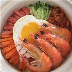 鲜虾石锅拌饭