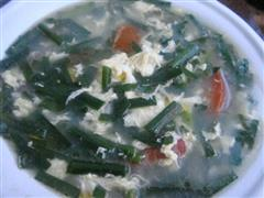 韭菜西红柿鸡蛋汤