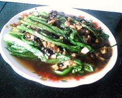 豆豉蒜蓉油麦菜