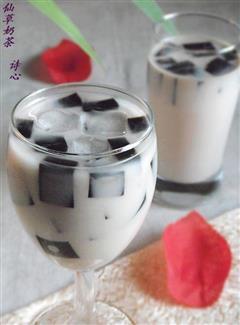 仙草冻奶茶