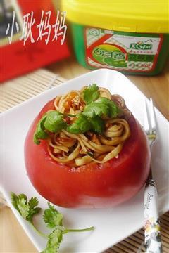 番茄鸡蛋炸酱面