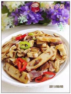 香菇洋葱孜然炒饼