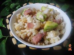 咸肉西葫芦米饭