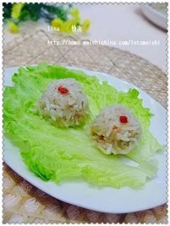 五彩榨菜珍珠丸子