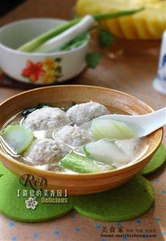 豆腐元子棒菜汤