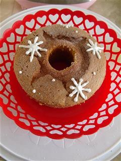 雪花戚风蛋糕