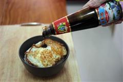 蚝油煎荷包蛋饭