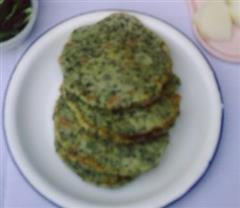 黑豆渣葱花饼