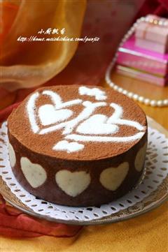 心形可可慕斯蛋糕