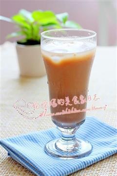 红豆沙玄米奶茶