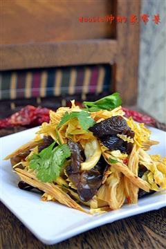 腐竹木耳拌包菜