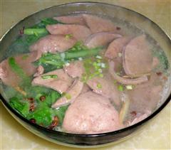 小白菜猪肝汤