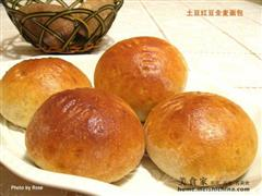 红豆全麦面包